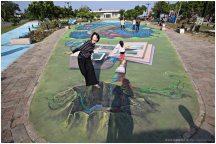 嘉義布袋【好美里3D彩繪村】。生動豐富的立體彩繪,整個漁村都是值得探險的海洋世界!