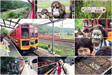 2013京阪自由行。【京都】嵐山。嵯峨野小火車嘟嘟嘟,保津川觀光鐵道之旅
